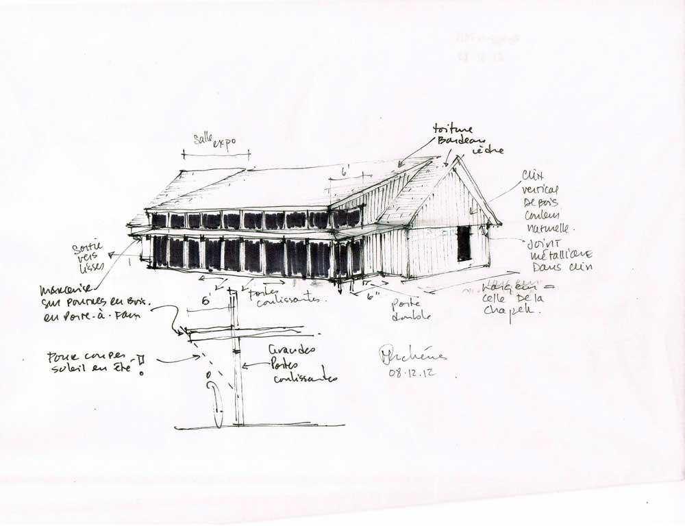 Parc Maritime de Saint-Laurent l'Ile d'Orléans - Élaboration du concept du nouveau pavillon.