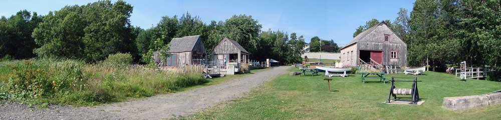 Parc Maritime de Saint-Laurent l'Ile d'Orléans - Vue arrière du site actuel.