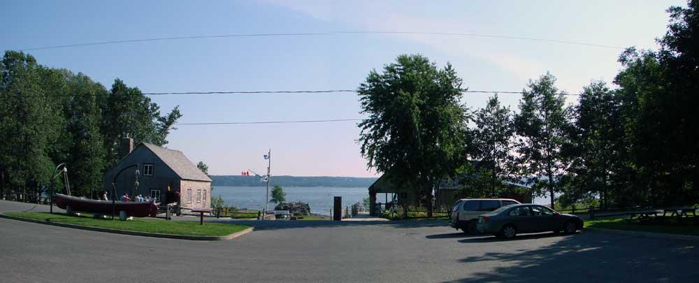 Parc Maritime de Saint-Laurent l'Ile d'Orléans - Perspective avant du site actuel.