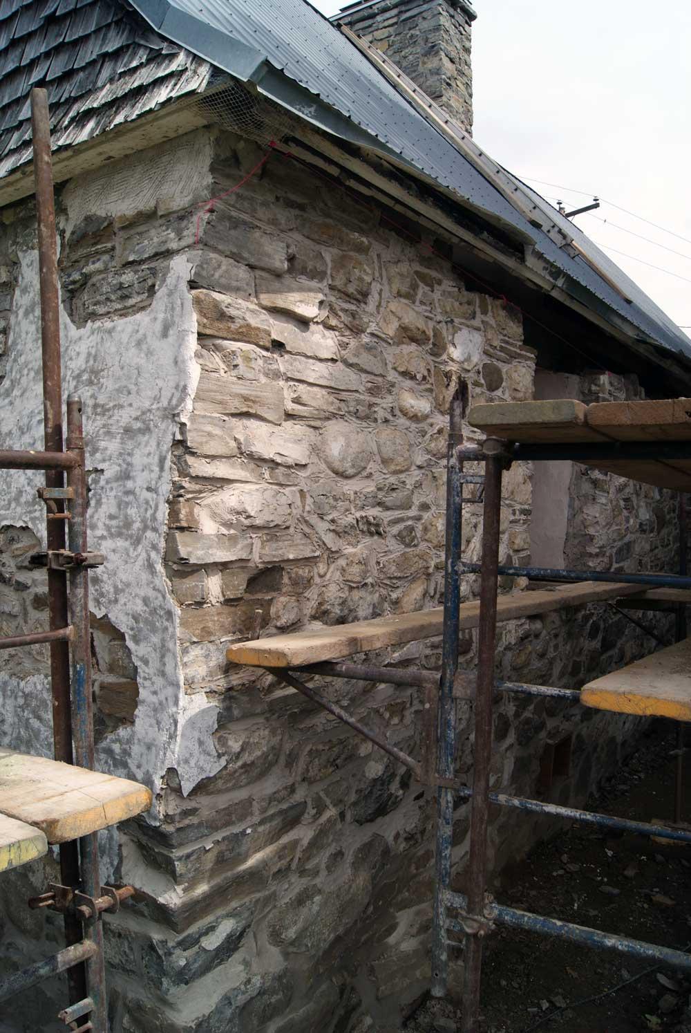 Maison Drouin - Restauration de la maçonnerie.