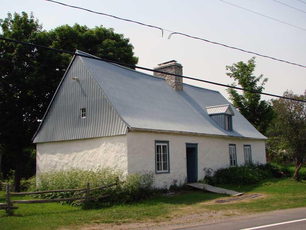 Maison Drouin - Vue avant de la maison Drouin avant les travaux.