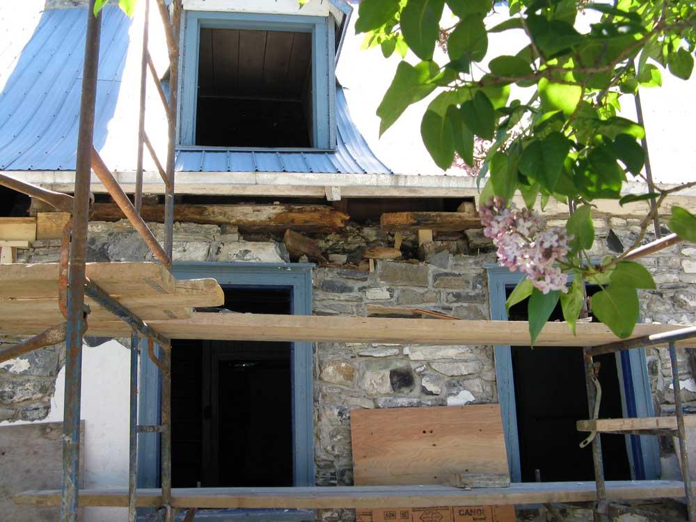 Maison Drouin - Sablière à remplacer.