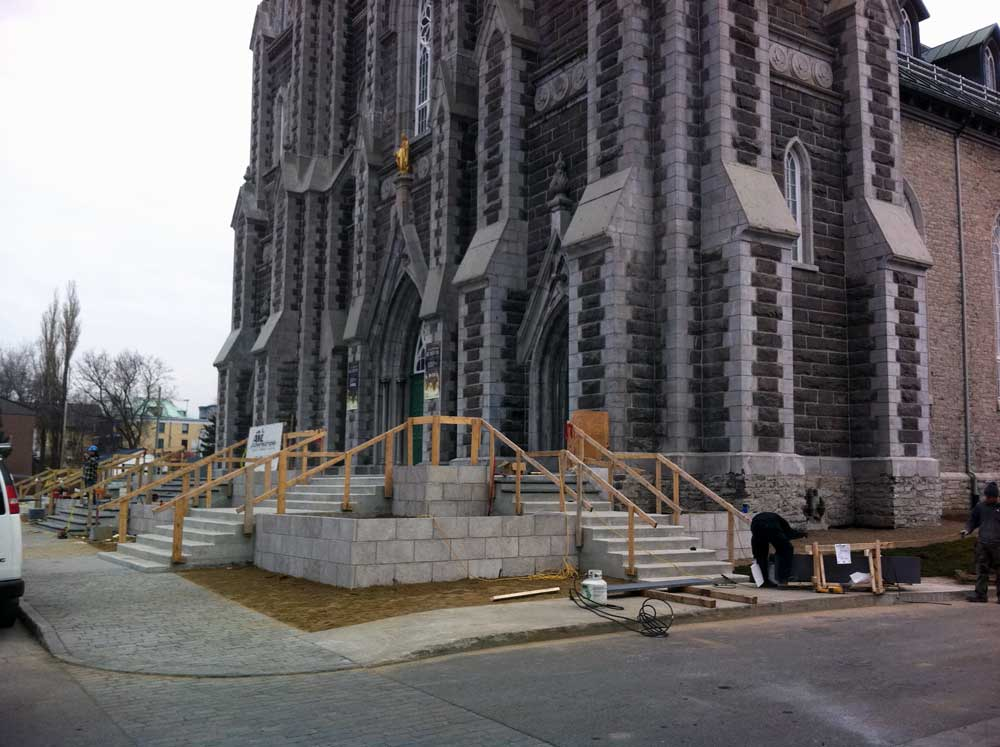 Église de la nativité de Beauport - Pendant la phase 1 des travaux.