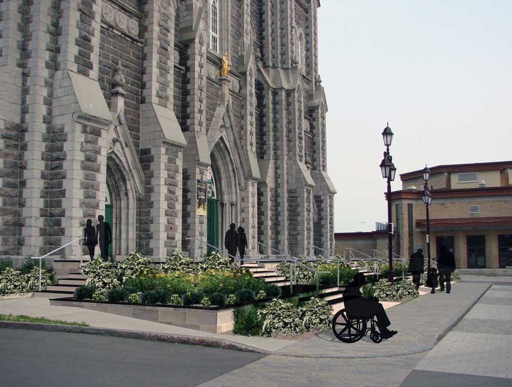 Église de la nativité de Beauport - Modélisation 3D du parvis proposé.
