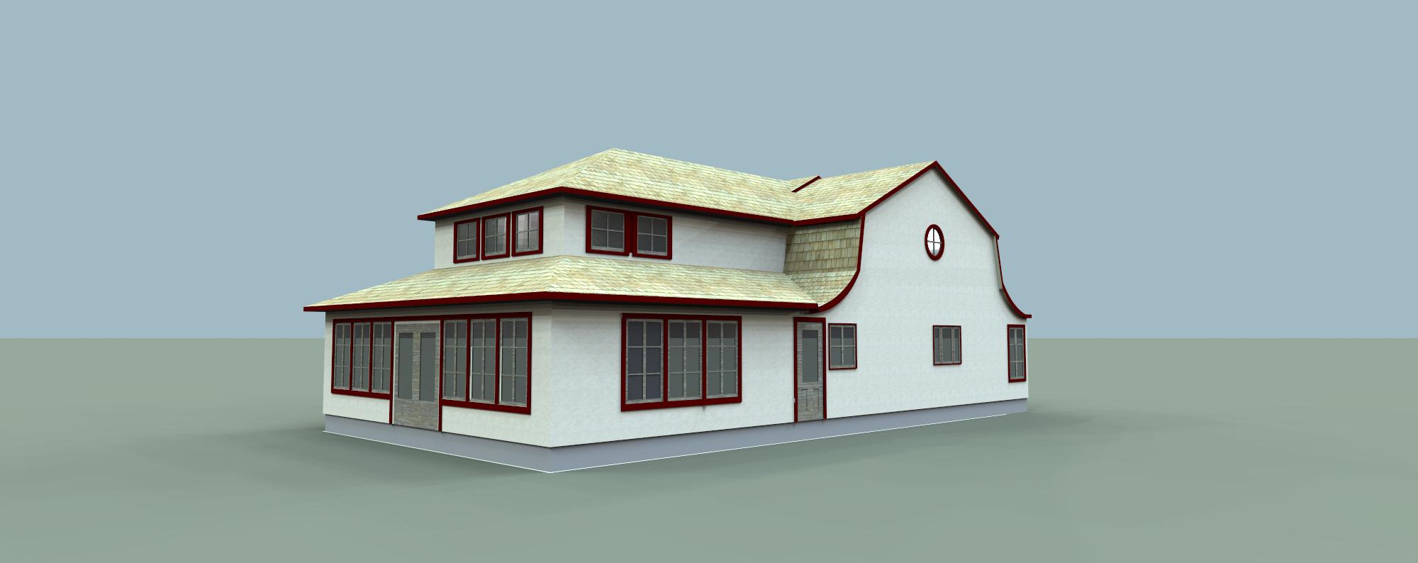 Maison Simons - Modélisation 3D.