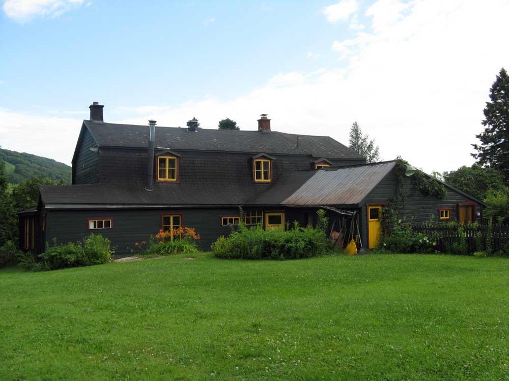 Maison Simons - Façade arrière avant l'ajout du nouvel agrandissement.