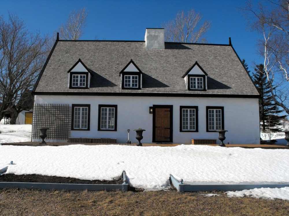Maison Hébert dit Lecompte - Façade arrière avant l'agrandissement.