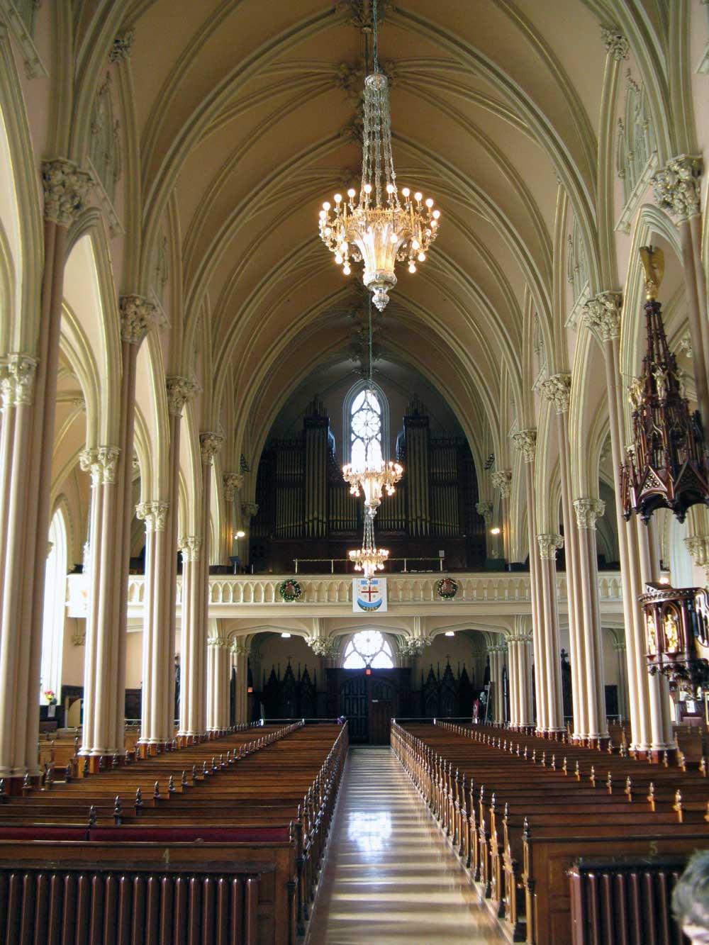 Église de la nativité de Beauport - Vue vers le jubé.