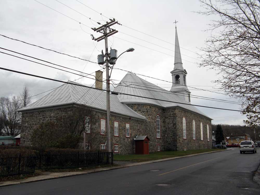 Église de Saint-Eugène de l'Islet - Perspective nord-est.