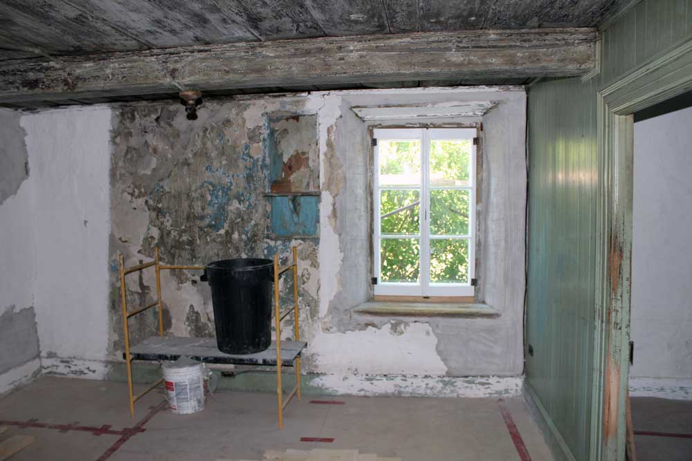 Maison Drouin - Restauration des finis intérieurs.